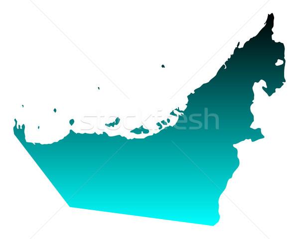 Harita Arap arka plan yeşil mavi seyahat Stok fotoğraf © rbiedermann