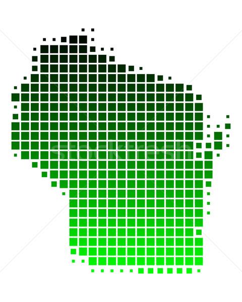 Harita Wisconsin yeşil model ABD kare Stok fotoğraf © rbiedermann