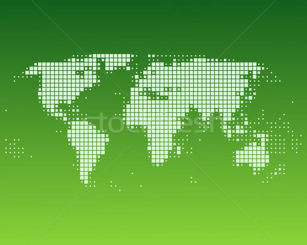 Мир карта Мир земле океана планеты Азии Сток-фото © rbiedermann