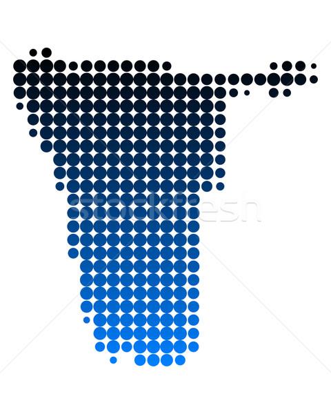 карта Намибия путешествия Африка шаблон точки Сток-фото © rbiedermann
