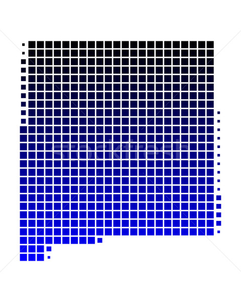 Kaart New Mexico Blauw patroon amerika vierkante Stockfoto © rbiedermann