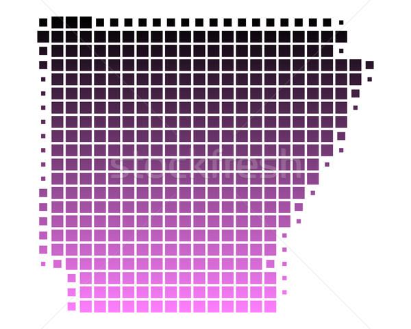 Kaart Arkansas patroon roze amerika vierkante Stockfoto © rbiedermann