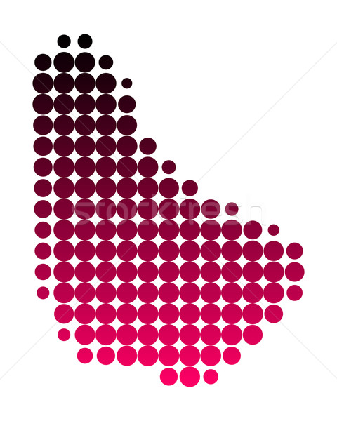地図 バルバドス パターン ピンク 紫色 サークル ストックフォト © rbiedermann