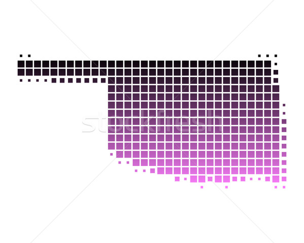 карта Оклахома шаблон розовый Америки квадратный Сток-фото © rbiedermann