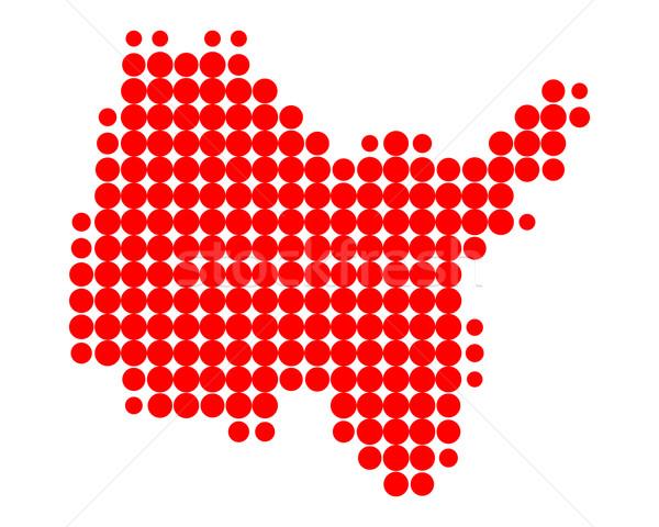Mappa rosso pattern cerchio punto vettore Foto d'archivio © rbiedermann