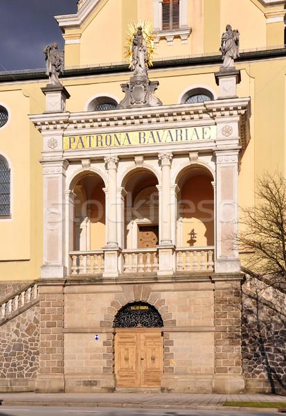 Porta templom nyár utazás építészet Európa Stock fotó © rbiedermann