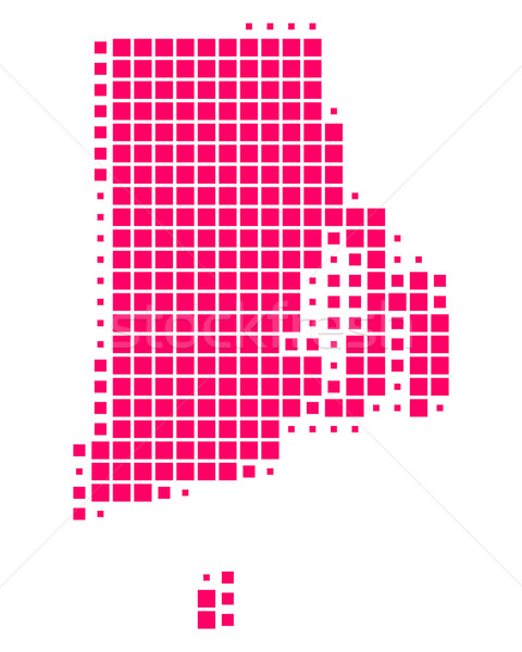 Mapa Rhode Island padrão roxo EUA praça Foto stock © rbiedermann