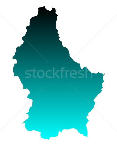Map of Luxembourg Stock photo © rbiedermann