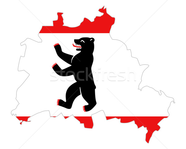 ストックフォト: 地図 · フラグ · ベルリン · バナー · ベクトル