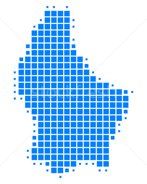 Kaart Luxemburg achtergrond vierkante punt illustratie Stockfoto © rbiedermann