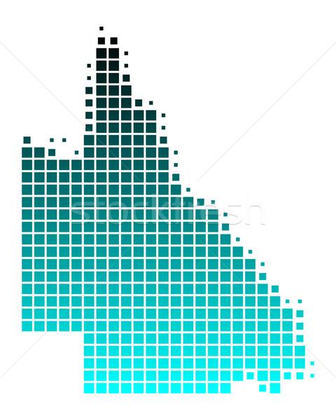 Pokaż queensland zielone niebieski wzór placu Zdjęcia stock © rbiedermann