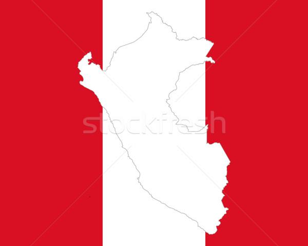 Pokaż banderą Peru tle podróży Zdjęcia stock © rbiedermann