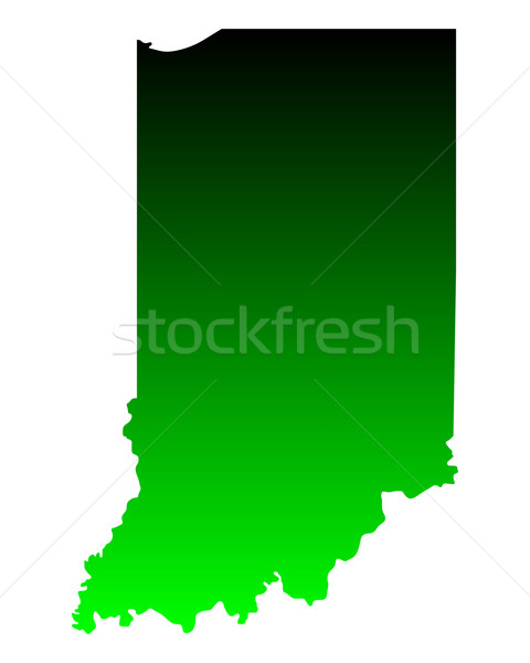 Kaart Indiana groene reizen amerika USA Stockfoto © rbiedermann