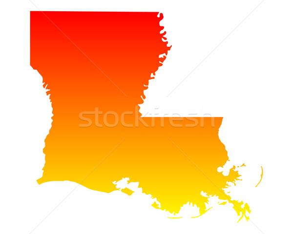 Mappa Louisiana viaggio america USA isolato Foto d'archivio © rbiedermann