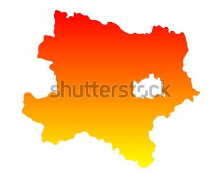 Térkép alsó Ausztria háttér narancs vonal Stock fotó © rbiedermann