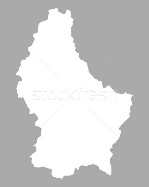 Térkép Luxemburg háttér vonal Stock fotó © rbiedermann