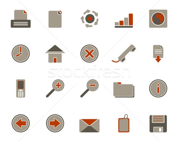 Iconos de la web Internet mundo mail móviles comunicación Foto stock © rbiedermann