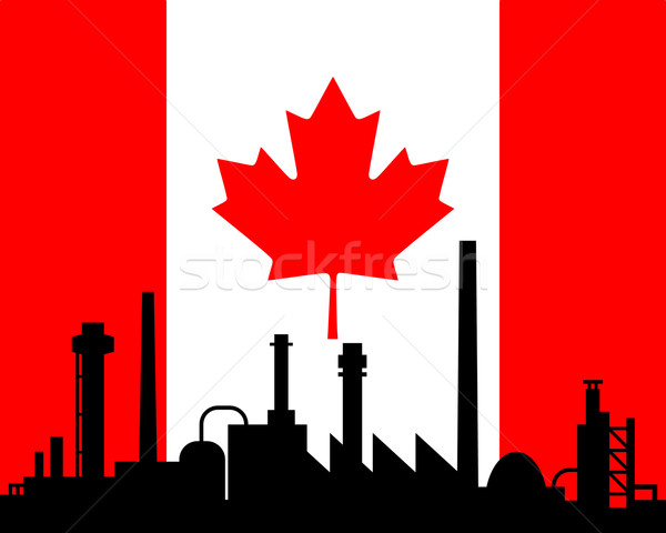 Industry and flag of Canada Stock photo © rbiedermann