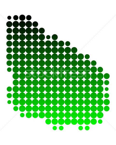 Térkép Uruguay zöld minta kör pont Stock fotó © rbiedermann