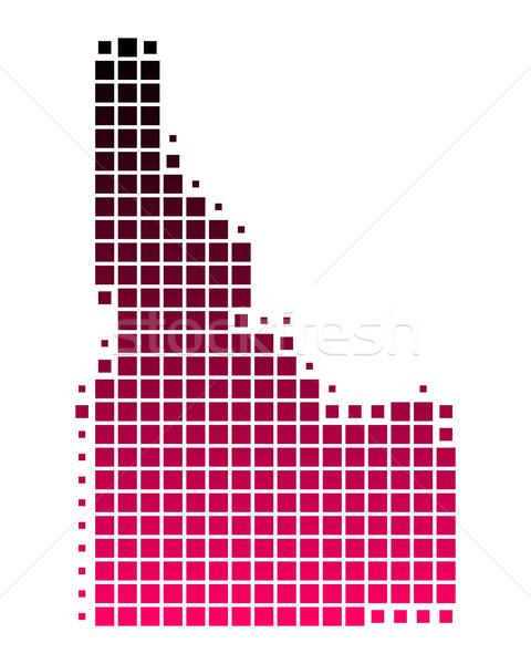 Mapa Idaho padrão rosa américa roxo Foto stock © rbiedermann
