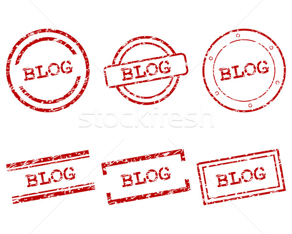 Blog stamps Stock photo © rbiedermann
