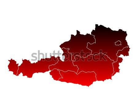 Map of Thuringia Stock photo © rbiedermann