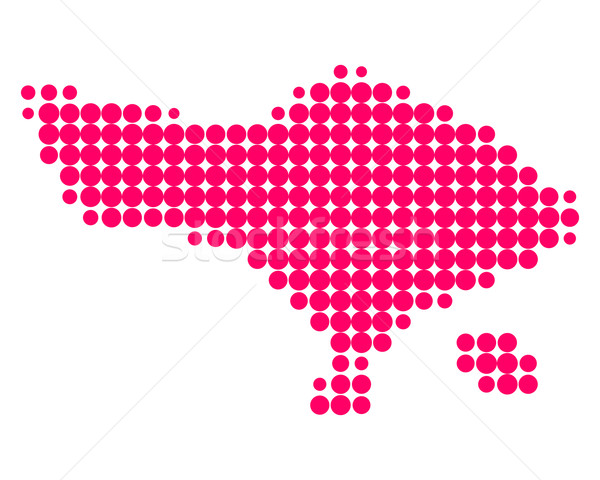 Harita bali model mor daire nokta Stok fotoğraf © rbiedermann