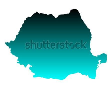 Mappa Romania vettore isolato illustrazione grigio Foto d'archivio © rbiedermann