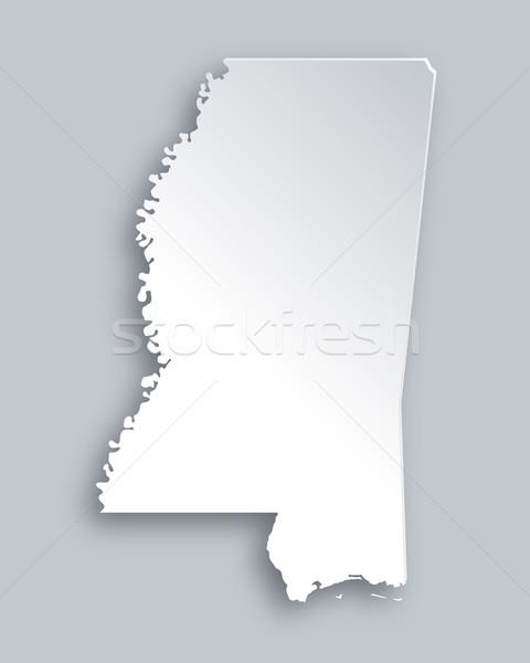 Harita Mississipi kâğıt arka plan seyahat kart Stok fotoğraf © rbiedermann