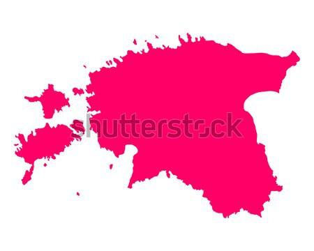 карта Эстония путешествия Purple вектора Сток-фото © rbiedermann
