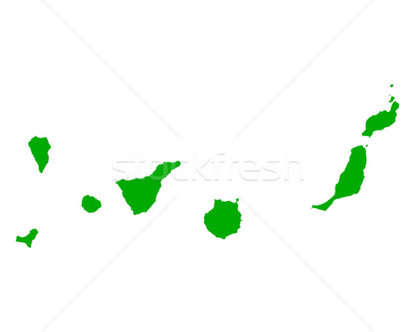 Map of Canary Islands Stock photo © rbiedermann