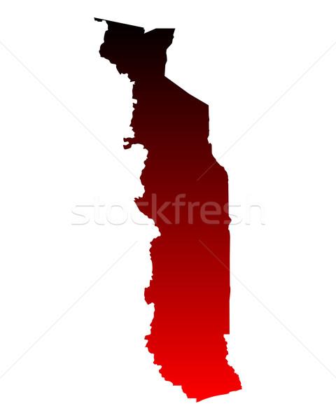 Mappa Togo rosso vettore isolato Foto d'archivio © rbiedermann