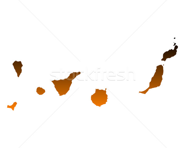 Map of Canary Islands Stock photo © rbiedermann