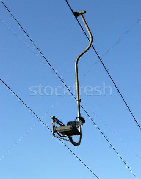 Chair-lift and the blue sky Stock photo © rbiedermann
