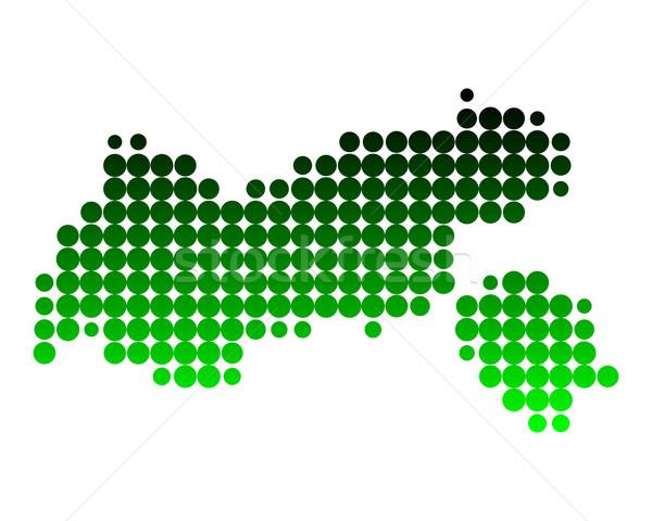 Térkép zöld minta kör pont földrajz Stock fotó © rbiedermann