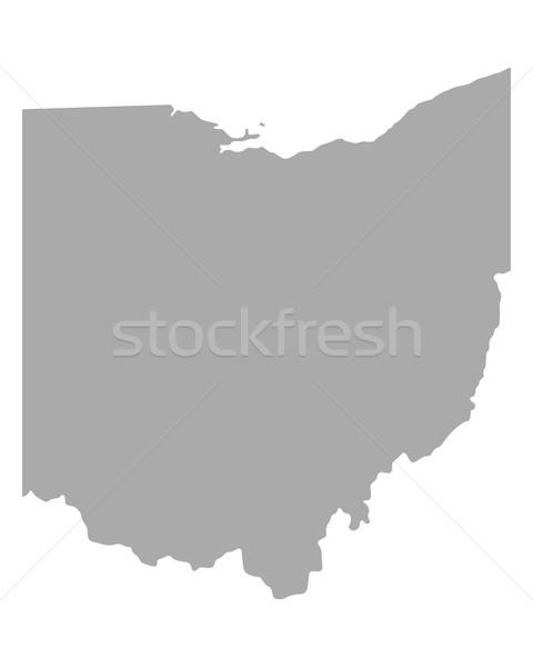 Harita Ohio seyahat Amerika ABD yalıtılmış Stok fotoğraf © rbiedermann