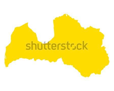 Harita Letonya vektör yalıtılmış Stok fotoğraf © rbiedermann