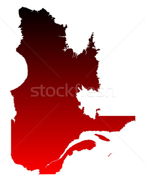 Harita Quebec kırmızı vektör Kanada yalıtılmış Stok fotoğraf © rbiedermann