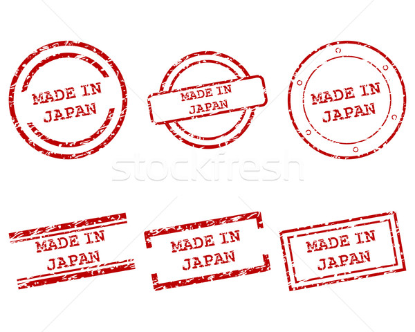 Japon timbres santé tampon graphique vente Photo stock © rbiedermann