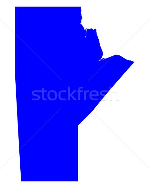 Mappa blu vettore Canada isolato illustrazione Foto d'archivio © rbiedermann