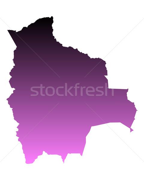 карта Боливия путешествия розовый вектора Сток-фото © rbiedermann