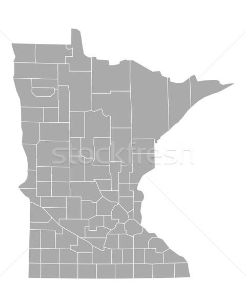 карта Миннесота фон линия вектора иллюстрация Сток-фото © rbiedermann