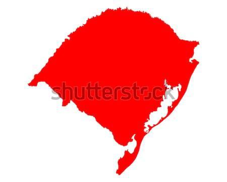 Harita rio seyahat kırmızı hat vektör Stok fotoğraf © rbiedermann