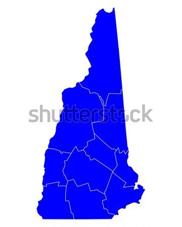 Harita New Hampshire mavi seyahat yeni ABD Stok fotoğraf © rbiedermann