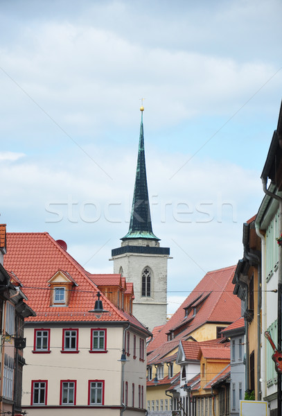 Tower of Church of All Saints in Erfurt Stock photo © rbiedermann