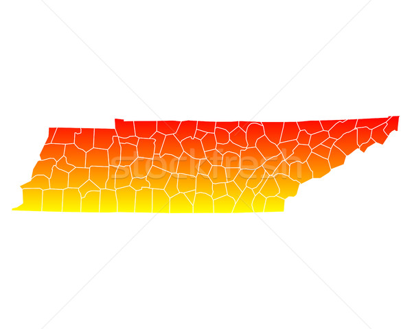 Mapa EE.UU. vector aislado ilustración geografía Foto stock © rbiedermann