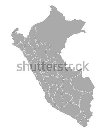 Mapa Perú fondo línea vector ilustración Foto stock © rbiedermann