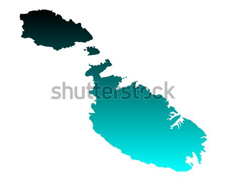 Kaart Malta achtergrond lijn vector Stockfoto © rbiedermann