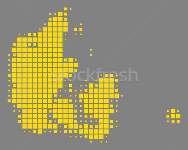 Mapa Dinamarca fundo praça ponto ilustração Foto stock © rbiedermann