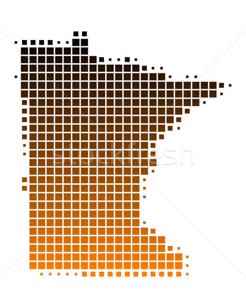 Harita Minnesota model Amerika kare örnek Stok fotoğraf © rbiedermann
